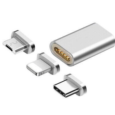 Magnetic Micro USB/Type C/Lightning to Micro USB Converter Charger Adapter CHA