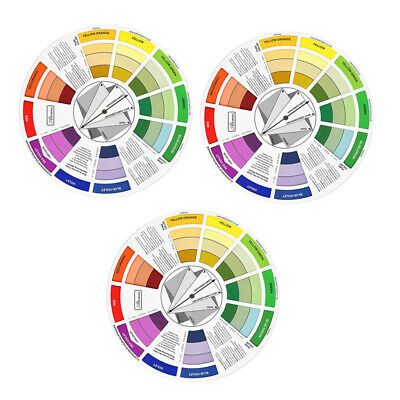 3x Permanent Makeup Pigment Color Wheel Mixing Guide Tattoo Ink Chart Board