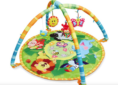 Baby Gym Play Mat Toy Bar Mobile Learning Activity Centre Animal Zoo Jungle