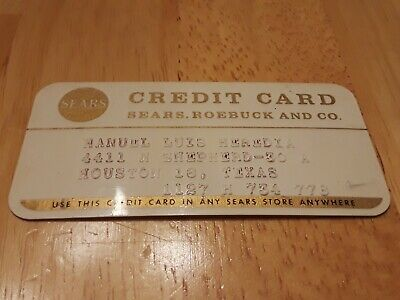 Vintage Sears Roebuck and Co Credit Card Charge Card 70s gold department store