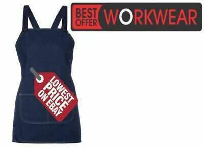 JB's Wear JB's CROSS BACK 65x71 BIB DENIM APRON JBS 5ACBB   (WITHOUT STRAP)