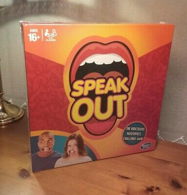 Speak Out Game Board Party Mouth Piece Challenge Family Kids Fun Xmas Gift Uk
