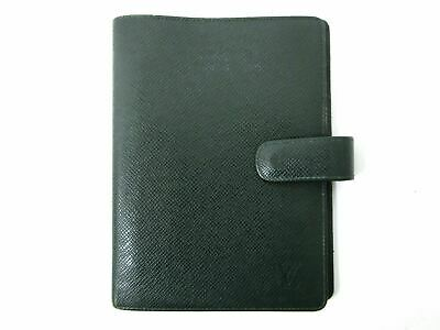 Auth Louis Vuitton Taiga Agenda MM R20403 Epicea Day Planner Cover Leather 79058