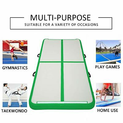 10FT Airtrack Inflatable Air Track Floor Home Gymnastics Tumbling Mat GYM Pad