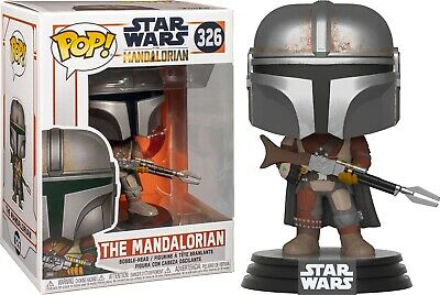 Star Wars The Mandalorian with Rifle Vinyl POP! Figure Toy #326 FUNKO NEW MIB