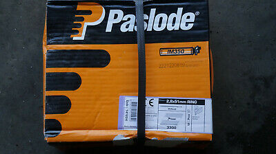 PASLODE 141204 51MM ELECTRO-GALV PLUS NAIL FUEL PACK 3300 pack for IM350
