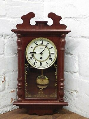Franz Hermle Westminster Chime Wall Clock Key Wind Pendulum Movement