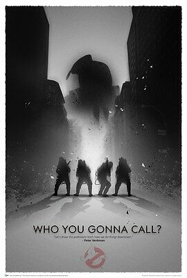 "NEW Ghostbusters Movie Art Silk Poster WHO YOU GONNA CALL 24X36"" 047"