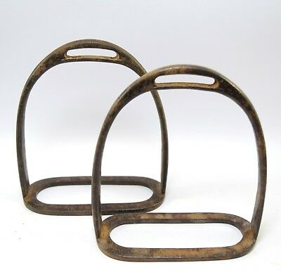 Indian Vintage Horse / Camel Feet Rest Pair Pedal Stirrup Farm Décor. G42-159 UK