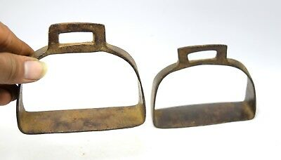 Vintage Iron Horse / camel Pedal Stirrup Pair Farm Décor Collectible. G42-171 UK