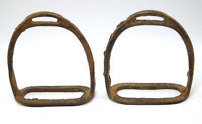 Vintage Indian Craft Horse Pedal Feet Stirrup Pair Equestrian Decor. G42-161 UK