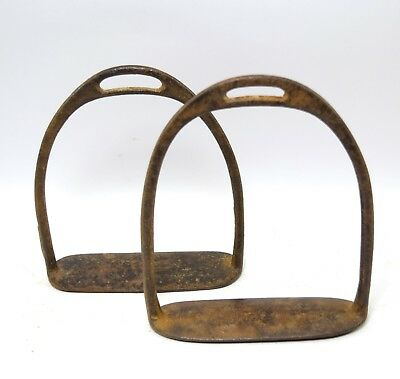 Good Collectible Vintage Horse Pedal Stirrup Pair Farm House Décor. G42-165 UK