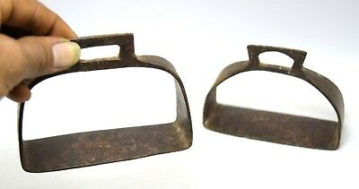 Vintage India Collectible Iron Horse Pedal Stirrup Pair Farm Décor.G42-174 UK