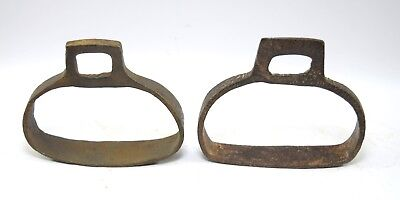 Unique Indian Vintage Horse Pedal Stirrup Pair Feet Rest Farm Décor.G42-173 UK