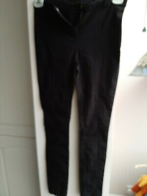 Girls New Look Black Slim Trousers Bnwot Seam Front Leg School Pants Size 8