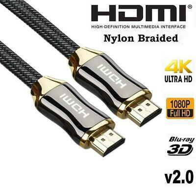Premium 4k Ultra HD V2.0 HD High Speed HDMI Cable 2160p 3D For PS3 PS4 XBOX TV