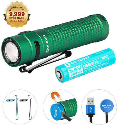 OLIGHT S2R II Green 1150 Lumens Rechargeable Variable-output EDC LED Flashlight