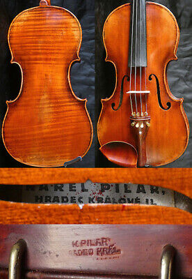 ORIG.! 4/4 ANTIQUE BOHEMIAM VIOLIN KAREL PILAR 19t fiddle  小提琴  ヴァイオリン Скрипка