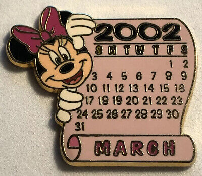 Disney Store 2002 12 Months Of Magic Calendar Series March Minnie Mouse Pin