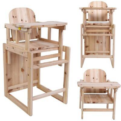 3 in 1 Children Wooden High Chair & Table Set Baby Feeding Highchair Detachable