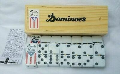 Puerto Rico Flag Double Six Dominos - Dominoes - ( Boricua Rican ) FREE SHIPPING