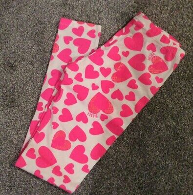 Diesel girls pink and white heart leggings, age 12 yrs