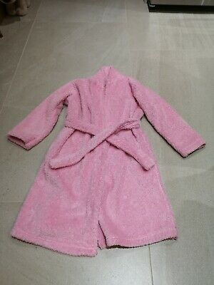 M&S Girl's Dressing Gown Pink Age 7-8 Year Vgc
