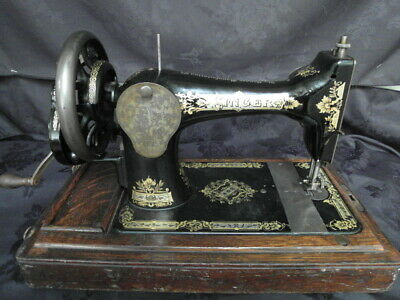 Antique Old Vintage Singer Hand Crank  sewing machine