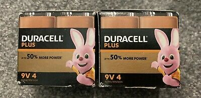 8 x Duracell 9V PP3 Plus Power Batteries, Smoke Alarms (LR22, MN1604, 6LR61) UK