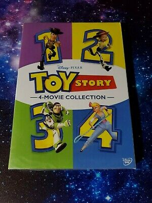 Toy Story 1-4 Box Set DVD Bundle New and Sealed Free Shipping