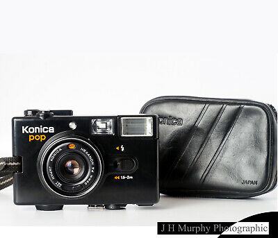 KONICA POP 35mm Film Point Shoot Camera EXCELLENT TESTED