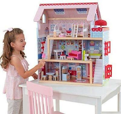 Chelsea Doll Cottage Dollhouse with Furniture Gift Set Play Toy Three Levels NEW