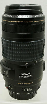 CANON EF 70-300mm f/4-5.6 IS USM Lens w/ CAPS  EXCELLENT +++ to NEAR MINT!