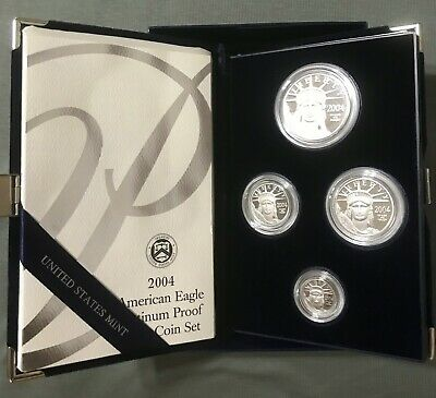 2004 - American Platinum Eagle Proof - Four Coin Set - This is a Must have Set