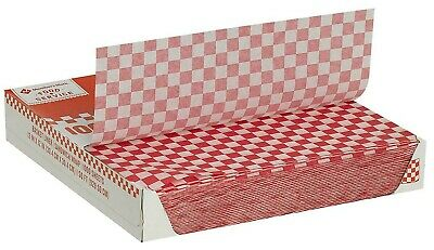 Member's Mark Red Checked Basket Liner Sheets Paper Food Tray Sheets - 1000 ct