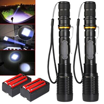 Tactical Police 990000Lumens T6 LED Flashlight Torch Lamp 5 Modes Aluminum Focus