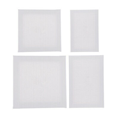 Blank Artist Canvas Art Board Plain Painting Stretched Framed Board White