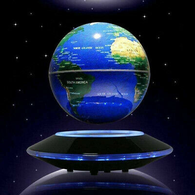 Home Room Decor Floating World Globe Map Magnetic Levitation With LED Light NEW