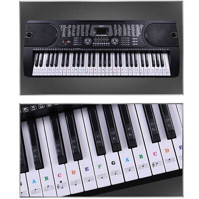 Piano Stickers Keyboard Music Note Chart Removable Decal for 54 or 61 Keys