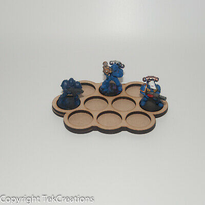 Lot of 12 - Movement Tray 10 x tight Squad (25/32mm) for Warhammer 40k & Others
