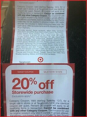 Target 20% Off Coupon On Your Order Valid Online & In store- From 12/3-12/14/19!