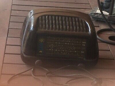 Antique/ Vintage STC Valve/ Tube Radio