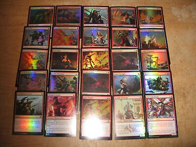 MTG Magic the gathering - lot of 25 foils with Rares! - RED
