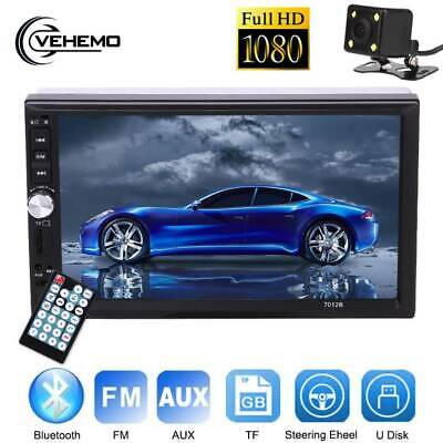"7"" 2 DIN Car FM Stereo Radio MP5 Player Touch Screen Bluetooth + Rearview Camera"