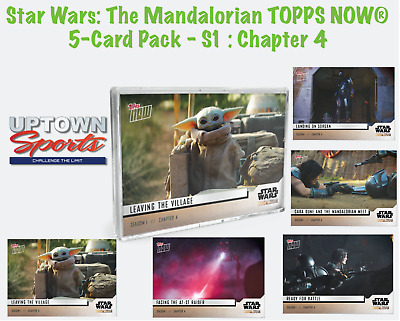 🚀Star Wars: The Mandalorian TOPPS NOW® 5-Card Pack - S1 : Chapter 4: Sanctuary
