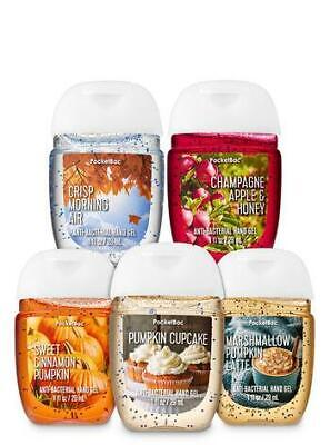 Bath and Body Works Set of 5 Fall Traditions Hand Sanitizer Anti Bacterial Gels