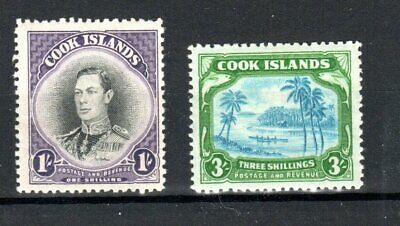 Cook Islands 1938 1s and 3s MLH