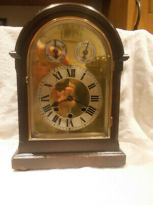 Westminster Chimming Bracket Clock With German Movement, Working With Key