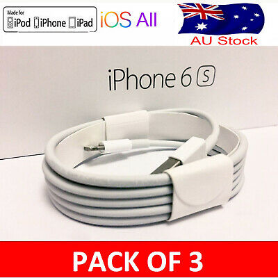 3x Lightning Charging Data Cable For Genuine Apple Charger iPhone5-8 11 XS iPad