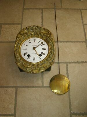 Old movement of comtoise, ringtone: Bell, with pendulum lens D 16,5cm
